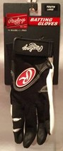 RAWLINGS Baseball/Softball Batting Gloves BGP 220 ~ YOUTH LARGE Black/Wh... - $9.94