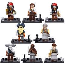 8 pcs Captain Pirates of the Caribbean Series I Minifigure Blocks for LE... - $21.55