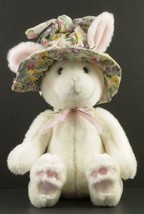 GUND FLOWERBUSH BUNNY Rabbit wearing Floral hat Plush Toy #3635 Easter - $18.95
