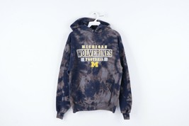 Vtg 90s Mens Medium University of Michigan Football Acid Wash Hoodie Swe... - $64.30