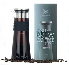 Cold Brew Coffee System by Zen Brews   Make Delicious Low Acidity - High... - $26.74