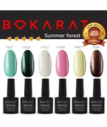 Bokarat ~Summer Forest~ Supper Set 7.3ml x 6pcs Soak Off UV LED Gel Nail... - $21.99