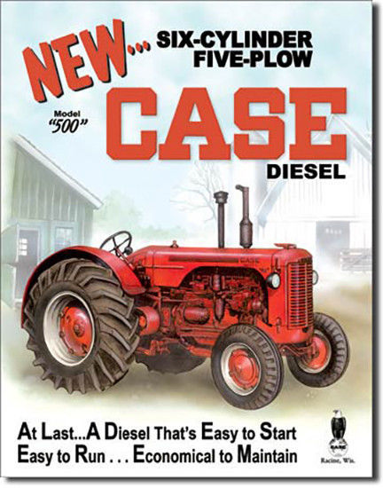 Primary image for Case 550 Diesel Tractor Farming Plow Farm Equipment Metal Sign