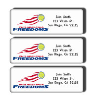 Philadelphia Freedoms Labels - $5.00