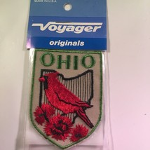 Vintage Retro Voyager Embroidered Patch Ohio State Bird Shield - $10.58