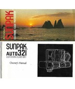 Sunpak Auto 321 Electronic Flash Unit Owner's Manual & Product Guide 2 B... - $19.79