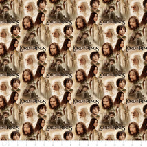 The Hobbit & Lord of the Rings Two Towers Collage 100% cotton fabric by ... - $22.53