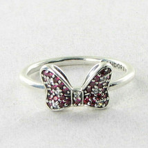 Pandora 190956CZR Ring Minnie Mouse Hair Bow Red CZ 925 Sz Sz 9.25 60 Ne... - $48.49