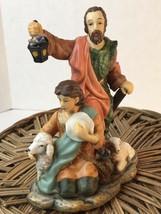 Avon Holiday Treasures Porcelain Figurines Nativity  Shepherd Boy Man 2002 - $14.00