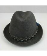 Vintage Mens Hugger 100% Wool Gray Fedora Hat Size 6 3/4  WPL 5923 - $65.44