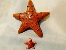 Steampunk Starfish ooak Polymer clay Set Lot of 2 Mini Star sea life usa - $9.65