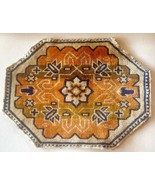 "Dollhouse Miniature Rug Reversable 12"" x 6"" Orange Blue Tan Southwest Pa... - $7.95"