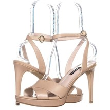 Nine West Quisha Criss Cross Knöchelriemen Sandalen 119, Light Gold, 10 US - $59.99