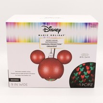 Mickey Mouse Ear Projection Hanging Ornament Christmas Disney Magic Motionmosaic - $44.95