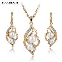 TOUCHEART Simulated Pearl Indian Wedding Jewelry Sets for Women Bridal C... - $6.00