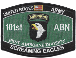 Us Army 101ST Airborne Division Screaming Eagles Mos Embroidered Patch - $17.09