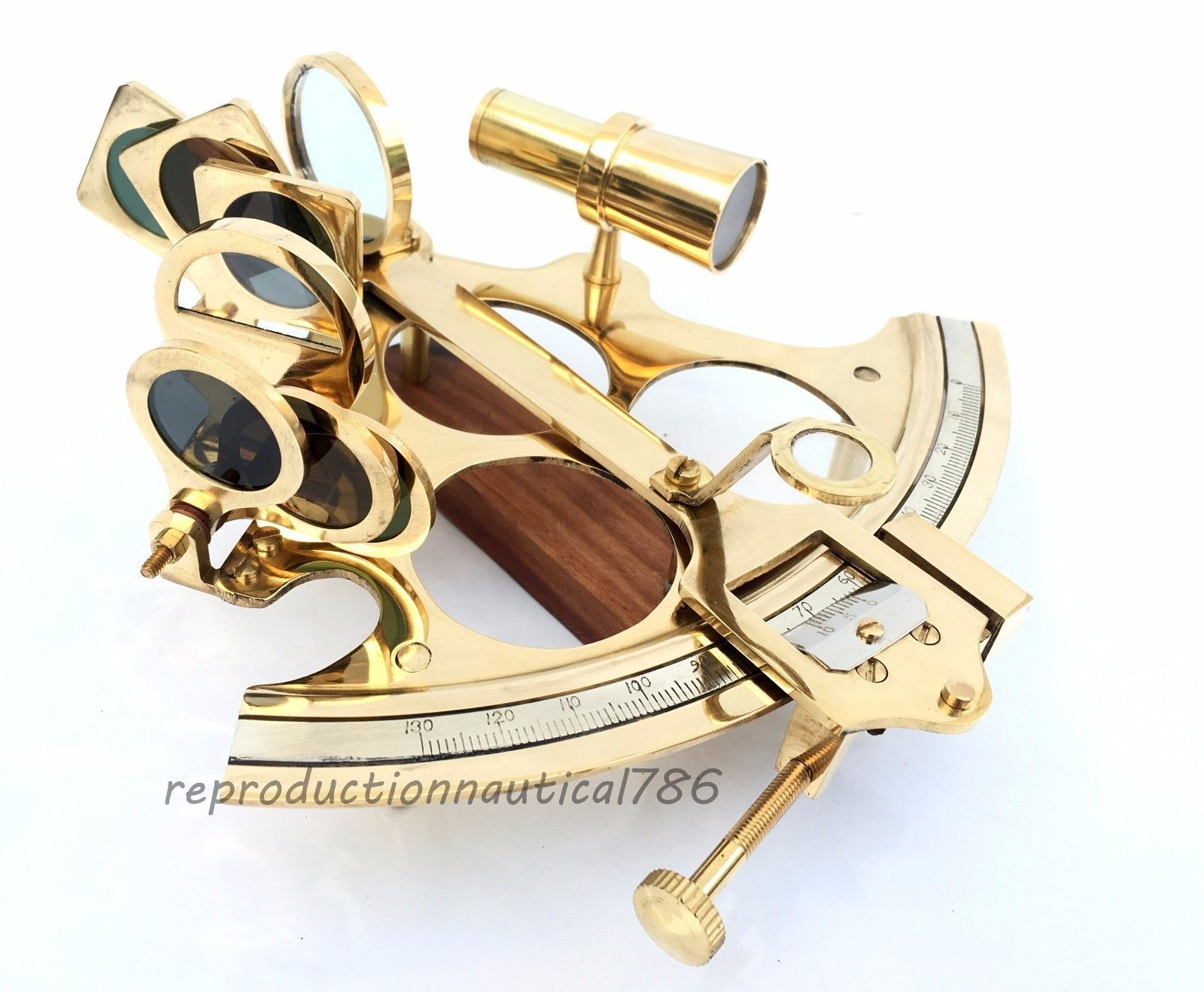 Solid Brass Sextant Vintage Marine Style Navy Sextant Ship Instrument DESIGN New