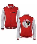 Japanese Style Embroidery Geisha Slim Fit Baseball Jacket Outwear for Sp... - $50.04