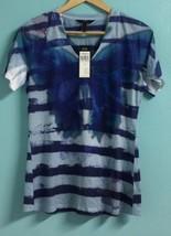 Women's Shirt Size Medium Sublimation Blouse Top BCBG PARIS NEW #A558 - $15.95