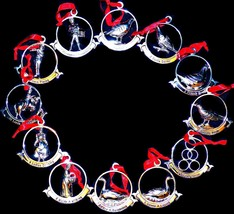 Retirado Godinger Chapado en Plata de Ley Doce 12 Días de Navidad Adornos - $199.99