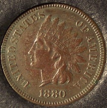 1880 Indian Head Cent XF Details #0060 - $23.99