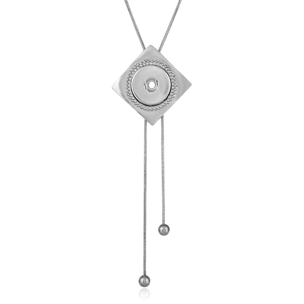 Newest style fit 18mm snap button Statement necklace Pendants Initial Necklace S image 3