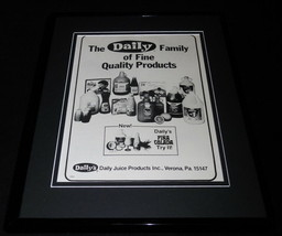 1979 Daily's Juice Framed 11x14 Vintage Advertisement - $37.04