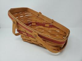 Longaberger Red Yuletide Traditions Christmas Basket 1991 - $15.00