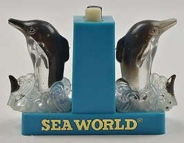 "Vintage Sea World Dolphin Salt & Pepper Shaker 2.625"" Tall Tableware Col... - $8.99"