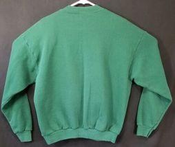Lee Size Large Cotton Blend Ugly Christmas Green Seasons Greeting Sweatshirt image 6