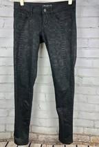 Mavi Jeans Serena Low-Rise Super Skinny Size 26 x 32 Black Snake Print - $42.20