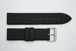 20mm Plain Heavy Italian Black Rubber Watch BAND Strap FITS Luminox S/S ... - $18.85