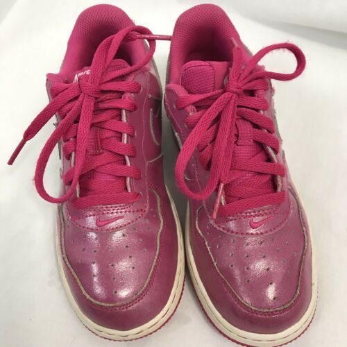 Nike Girls Pink Force 1 Low Athletic Shoes, Kids Size 1