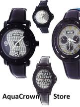 """Brand New Men's King Master 50mm Round 12 Diamonds Black Case watch """""""" N... - $19.79+"""