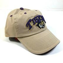 Louisiana State University Tigers LSU Tan Curved Brim Strapback Hat Cap - $14.03
