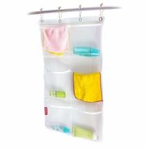 Honla 2-Pack Hanging Mesh Bath Shower Caddy Organizer with 6 Clear Stora... - $12.14