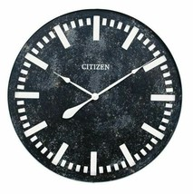 "Black & White Large 28"" Oversized Round Wall Clock, Modern Industrial,Qu... - $69.28"