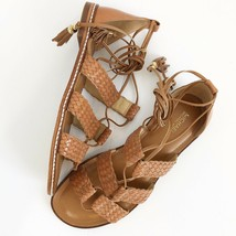 MICHAEL KORS womens brown leather monterey gladiator lace-up sandal shoe... - $57.92