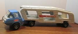 Tonka BLUE Pickup Truck mini motor mover 1970's Pressed Steel Vintage Item - $70.13