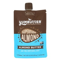 Yumbutter Superfood Almond Butter - Case of 6 - 6.2 OZ - $39.54