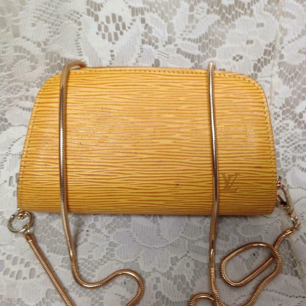 Primary image for Louis Vuitton Yellow Epi Leather Cosmetic Pouch-Crossbody 7in x 4in x 2.5in