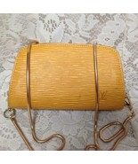Louis Vuitton Yellow Epi Leather Cosmetic Pouch-Crossbody 7in x 4in x 2.5in - $185.20