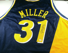 REGGIE MILLER / NBA HALL OF FAME / AUTOGRAPHED INDIANA PACERS CUSTOM JERSEY COA image 1