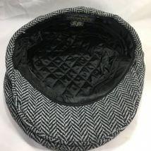 DORMAN PACIFIC DPC Gatsby Newsboy Cabbie Hat Cap Herringbone Wool Blend Medium image 9