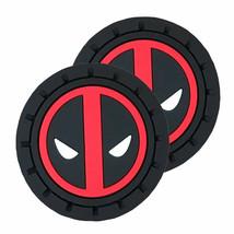 Deadpool Logo Car Cup Holder Coaster 2-Pack Red - $16.98