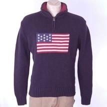 Polo Jeans Company Men's American Flag Sweater Cotton Sz L EUC - $38.49