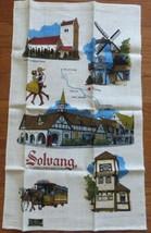 Vintage KayDee Linen Towel Solvang California CA Souvenir - $6.00