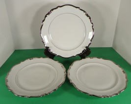 Schwarzenbach Winterling White Heavy PLATINUM Trim Dinner Plate (s) LOT ... - $34.60