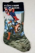 Marvel CAPTAIN AMERICA Christmas Stocking & Toy Figure Finger Puppet NWOT   - $15.99