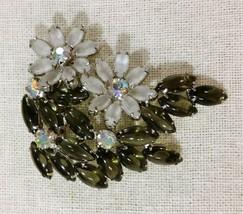Vintage Large Flowers Brooch - $24.75